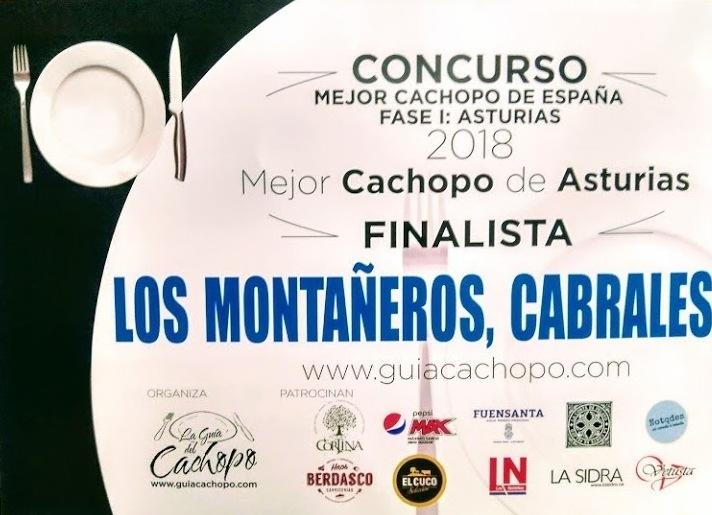 FINALISTA MEJOR CACHOPO DE ASTURIAS 2018